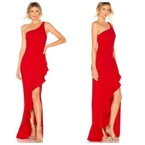 NWT Revolve LIKELY Marielle Scarlet Red Maxi Gown